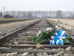 KZ_Auschwitz-Birkenau,_Bahngleise_der_Entladerampe,_Blumen_zum_Gedenken