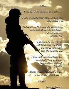 Soldier Poem